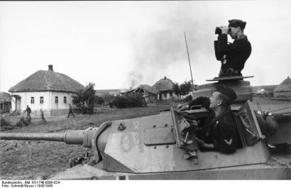Russland, Panzer III und Besatzung